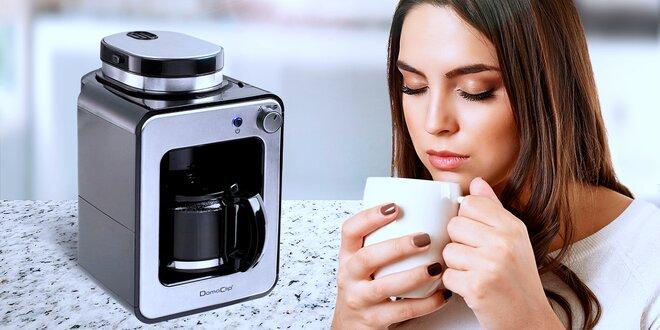 Kompaktní domácí kávovar se zabudovaným mlýnkem