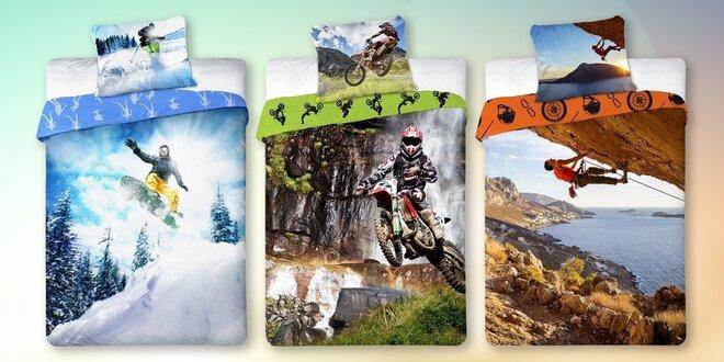 Povlečení se sport motivy: balet, kolo i motocykl