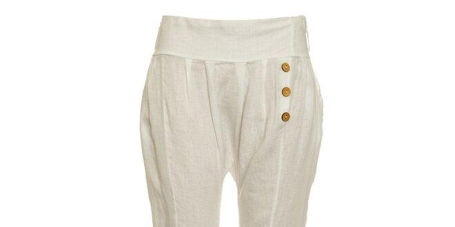 97e2f1bf0e6 Dámské bílé lněné kalhoty Puro Lino