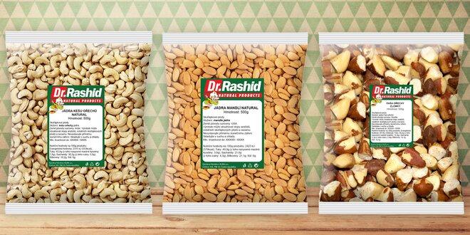 Mandle, kešu, para i další ořechy pro zdravé mlsání