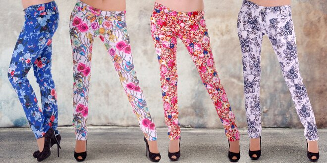 Dámské květované kalhoty, ve kterých zazáříte