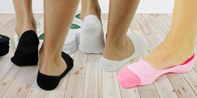 Samodržící No Show ponožky 5 párů