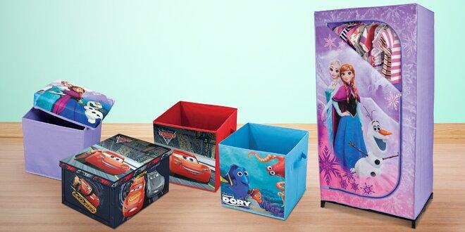 Úložné boxy, otomany a skříně Cars, Frozen a Dory