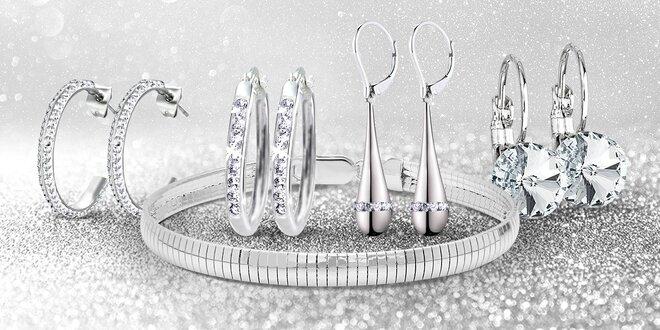 Ocelové šperky s krystaly Swarovski Elements - náušnice, náramek