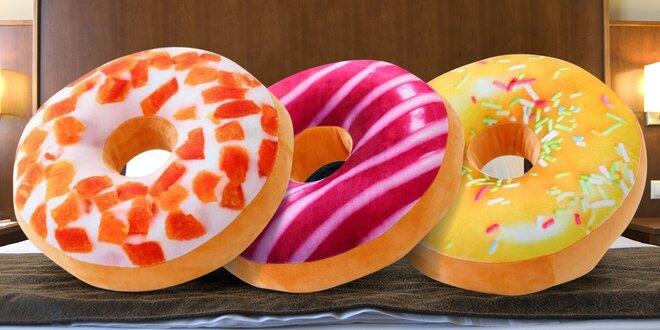 Polštářky donut v šesti mlsných příchutích