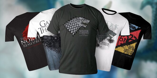 Oficiální dámská a pánská trička Hra o trůny