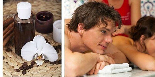 60minutová romantická párová čokoládová masáž pro dva vč. zábalu se šampaňským
