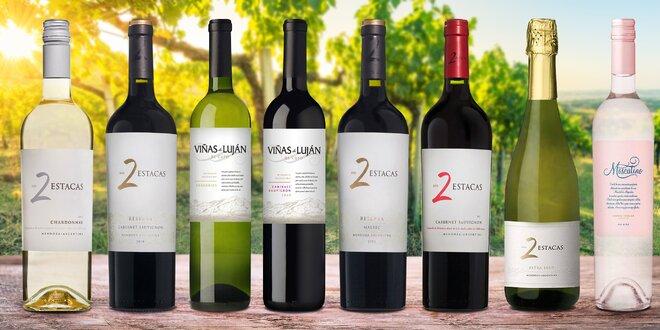 Sety vín z Argentiny: červené, bílé i růžové