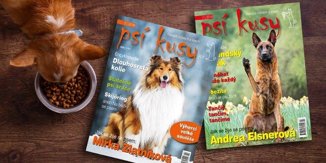 Roční předplatné časopisu Psí kusy s bonusy