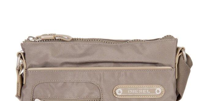 Šedo-béžová taška přes rameno Diesel
