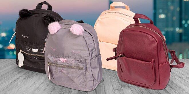 Dámské batůžky z koženky v různých barvách