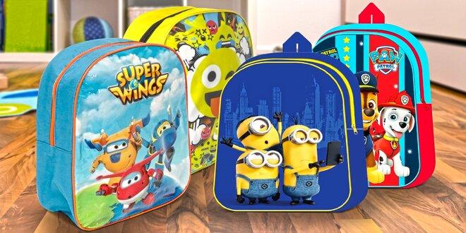Dětské malé batůžky s animovanými hrdiny