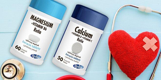 Doplňky stravy: vitamíny kalcium i magnézium