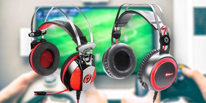 Herní sluchátka Ravcore s mikrofonem a LED prvky