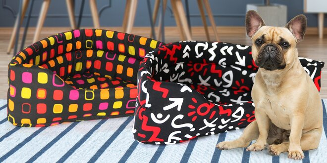 Rohové pelechy pro psy a kočky: 2 velikosti