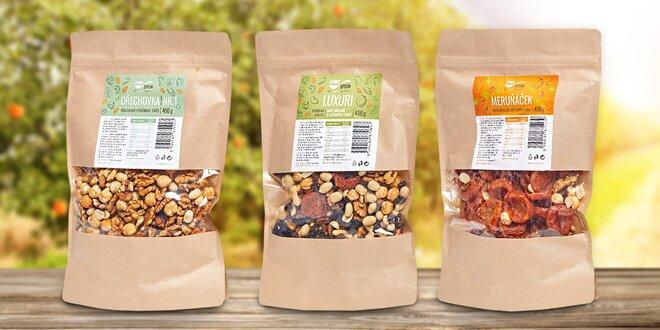 Prémiové směsi ořechů a ovoce pro zdravé mlsání