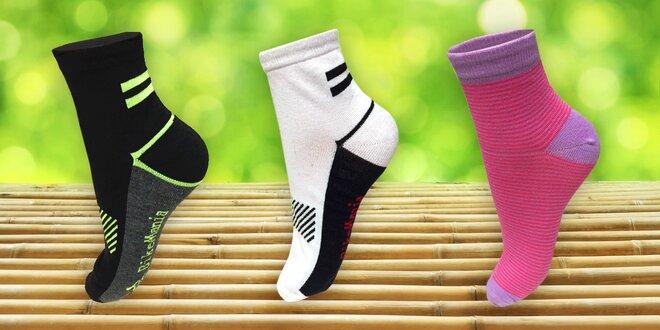 12 párů funkčních bambusových unisex ponožek  6cec87c563