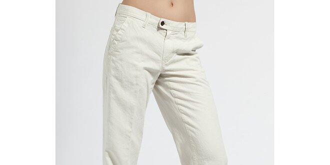 Dámské letní krémové kalhoty Diesel s puky