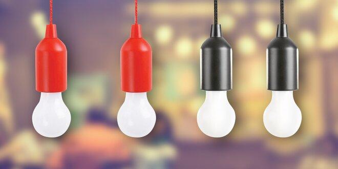 LED žárovky na tužkové baterie: červené i černé
