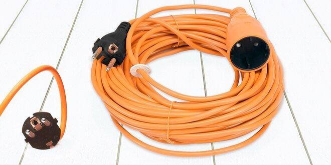 Oranžové zahradní prodlužovací kabely