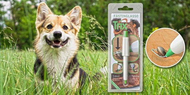 Patentované laso na odstranění klíšťat ze zvířat