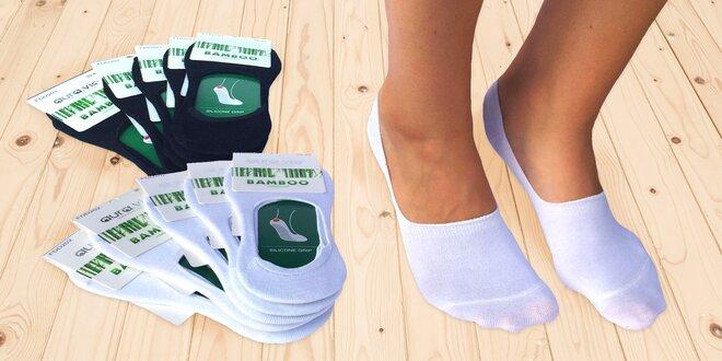 5 párů bambusových ponožek do tenisek