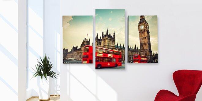 Výběr 68 trojdílných obrazů na malířském plátně