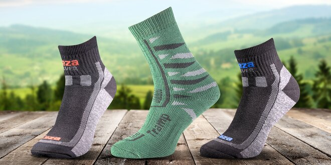 Velký výběr funkčních ponožek s obsahem stříbra