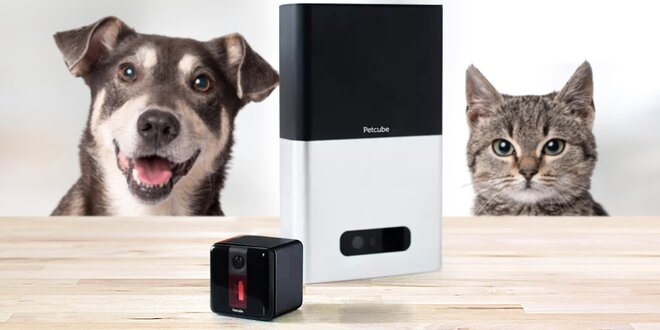 Interaktivní smart kamery pro psy a kočky