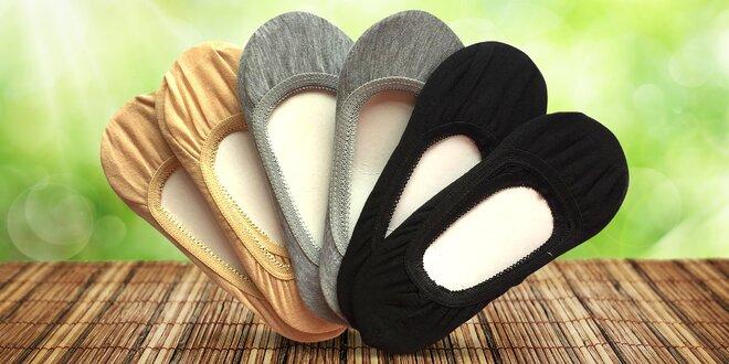 6 párů bambusových ponožek do balerínek  67f35a40fa