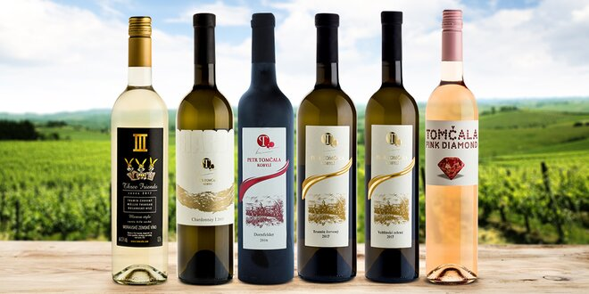 Sety až 6 láhví vín: Chardonnay i Dornfelder