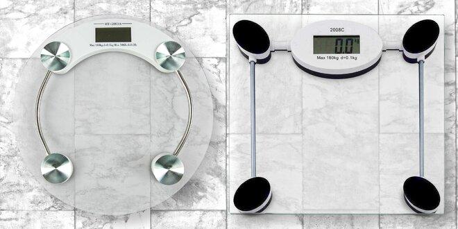 Osobní váhy z tvrzeného skla: kulatá či hranatá