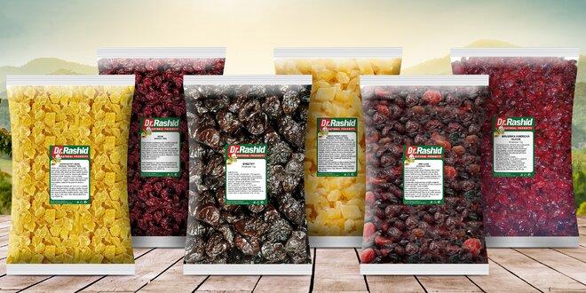 Výhodné balíčky chutného sušeného ovoce: švestky, ananas a další