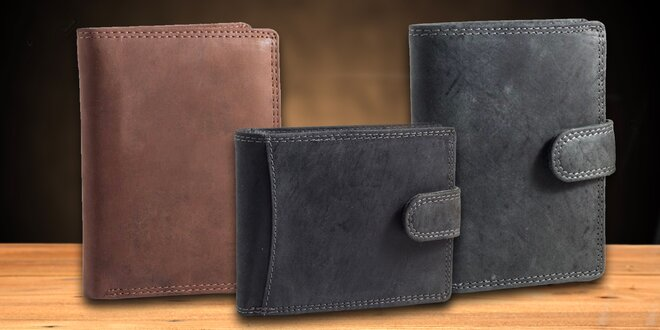 Pánské peněženky z buvolí kůže