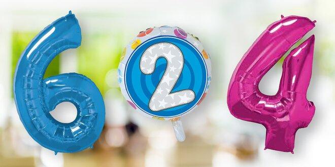 Nafukovací balónky s číslicemi: růžové a modré