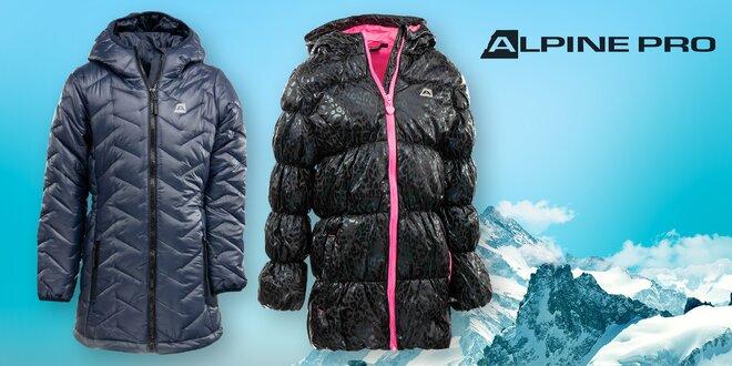 Dětské zateplené kabáty Alpine Pro: 2 barvy