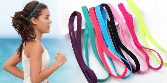 Sportovní čelenky ve 12 různých barvách