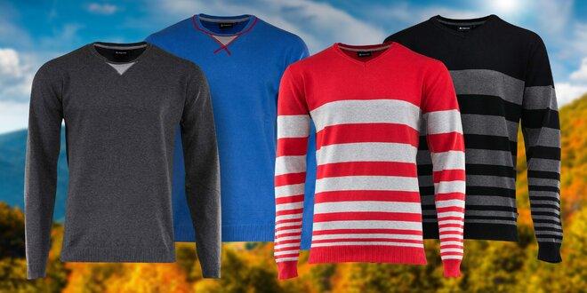 Svetry Alpine Pro v černé, červené, modré i šedé
