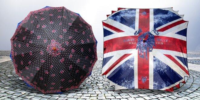 Čtvercové a dvouplášťové automatické deštníky