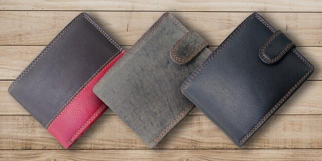 Elegantní kožené pánské peněženky ve 14 stylech