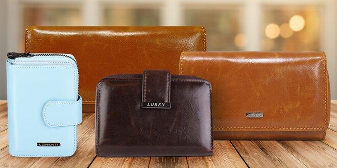 9aced79337f Dámské kožené peněženky  8 modelů a 6 barev