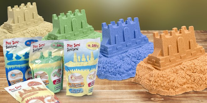 Barevné modelovací písky pro celou rodinu: 500 g