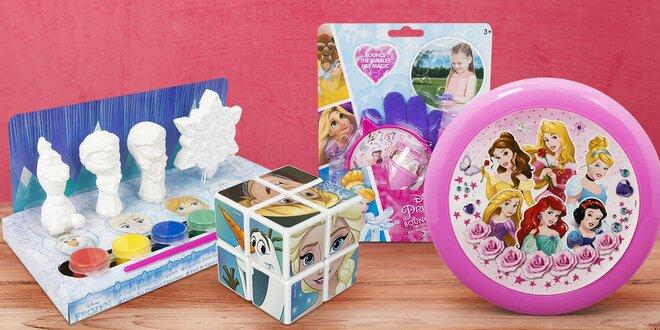 Hračky Frozen a Princess: bublifuk i omalovánky