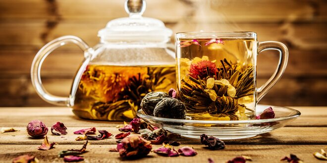 Dárková kolekce šesti kvetoucích čajů