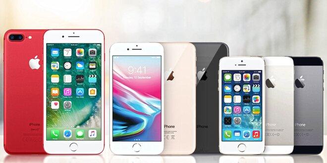 Zánovní Apple iPhone 5S, SE, 6, 6S, 7 i 7 Plus