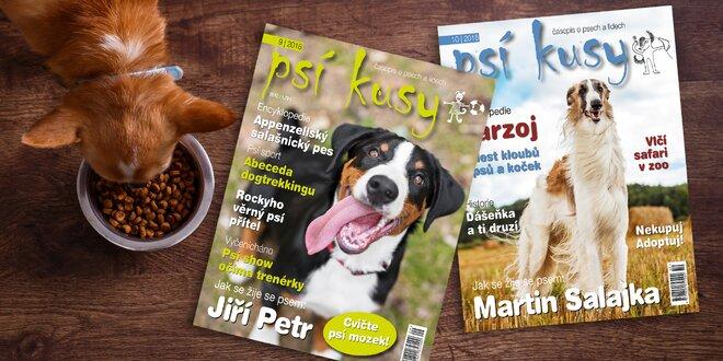 Roční předplatné časopisu Psí kusy na rok 2019