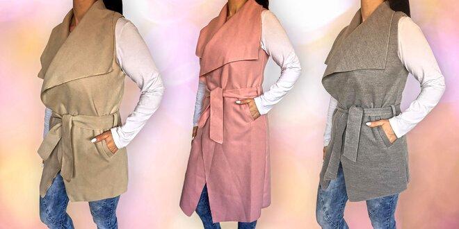 Elegantní dámské vesty s páskem