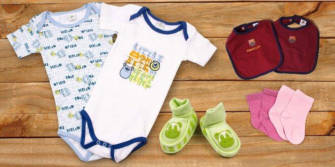 Ponožky a bodýčka pro děti ve věku 0–18 měsíců