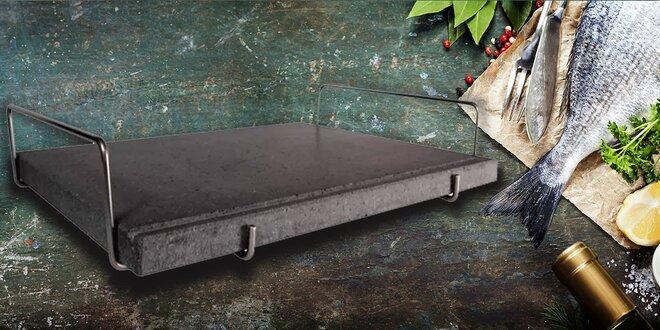 Lávový kámen na rovnoměrné grilování