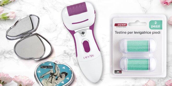 Elektronický pilník na paty a pin-up zrcátko